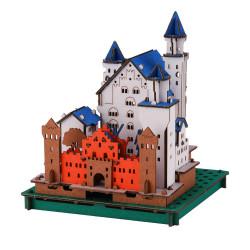 Mini cardboard model, SCHLOSS NEUSCHWANSTEIN, Neuschwanstein Castle, made in Japan