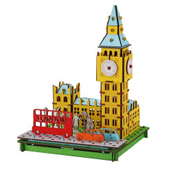 Mini mockup di cartone, BIG BEN, Big Ben, Made in Japan