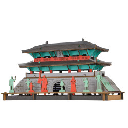 Mini mockup di cartone, NAMDAEMUN, Great South Gate of Seoul, Made in Japan