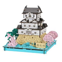 Mini cardboard mockup, TAKAMATSU-JO, Takamatsu Castle, made in Japan