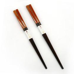 Coppia di bacchette giapponesi in legno naturale - WAKASA NURI ASANOHA