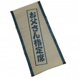 Traditional Japanese rice straw mattress - YAMATO, blue, 70x150cm