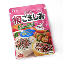 Black sesame and plum flavored rice seasoning - FURIKAKE PINK NO UME