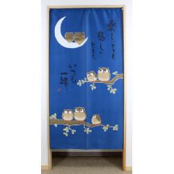 lunga tenda noren blu gufi giapponesi, TANOSHII TOKI MO, gufi