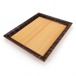 Small rectangular tray in cherry bark and Akita cedar, KAIKA