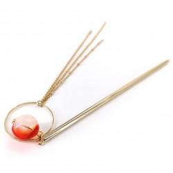 Kanzashi hairpick, CIRCLE