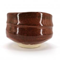 Ciotola da tè giapponese per cerimonia, SABI, rosso