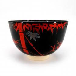 Ciotola da tè giapponese per cerimonia, NINSEI, bambu rosso