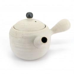 Japanese ceramic teapot, SHIROMARU, White