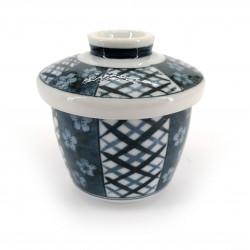 Tazza da tè giapponese con coperchio Chawanmushi, UME