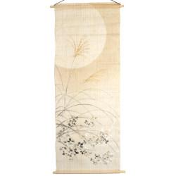 tapisserie japonais en lin moon