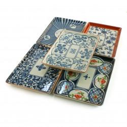 set of 5 plates Japanese sushi 16M1631834