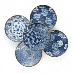 set de 5 petites assiettes japonaises avec motifs SOME KÔBÔ