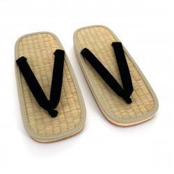 paio di sandali zori giapponesi, ZORI BK, nero