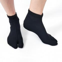 calzini giapponesi, NYLON STRETCH TABI, nero o bianco