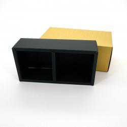 cartone per due scatole da tè giapponesi rotonde e metalliche, KÂTON, d'oro