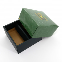 scatola di cartone per due scatole da tè giapponesi, KÂTON, verde