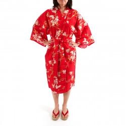 cotone giapponese kimono giapponese happi felice, CHÔSAKURA, fiore di ciliegio e farfalla