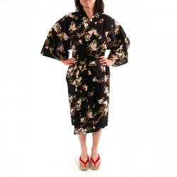 happi kimono giapponese felice, CHÔSAKURA, fiore di ciliegio e farfalla