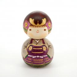 japanese wooden doll - kokeshi, KABUTOKUN, samurai