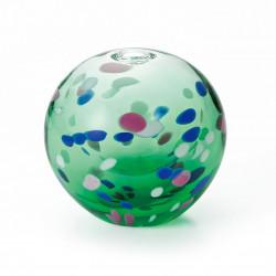 japanese glass vase, AOBA, green