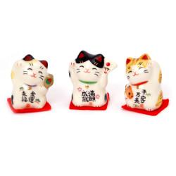 Trio di gatti giapponesi , MANEKINEKO, portafortuna