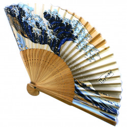 japanese fan - paper and bamboo - Namiurafuji