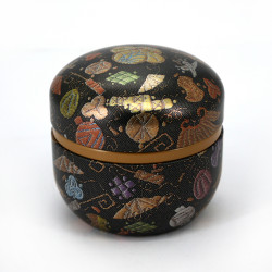 Japanese tea box made of washi paper, SUZUKO TAMAORI, black