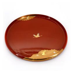 vassoio effetto laccato rosso, KAGAYAKI, gru