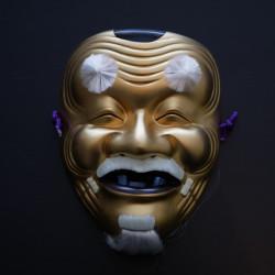 golden japanese nô mask old man OKINA