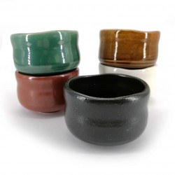 set di 5 tazze da tè giapponesi, TASHOKU NO, multicolore