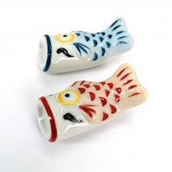 Japanese ceramic chopsticks holder carp, KOI, color choice
