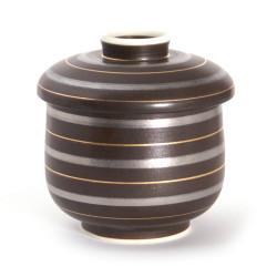 Tazza da tè giapponese con coperchio Chawanmushi, RAIN, marrone