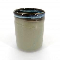 Japanese green teacup ceramic AO HAN KAKE
