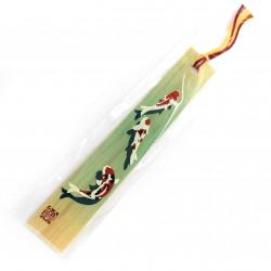 Japanese wooden bookmark - BUKKUMAKU KOI