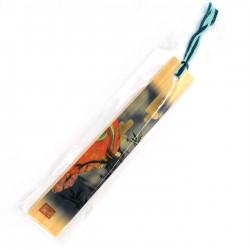 Japanese wooden bookmark - BUKKUMAKU HIME