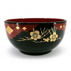 Large soup bowl, black and red - GORUDENPURAMU