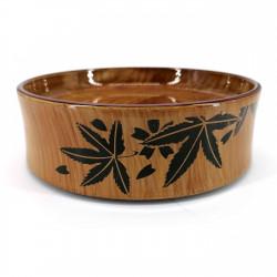 Vassoio rotondo in resina per sushi, aspetto legno - MOMIJI