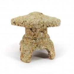 Piccola lanterna soprammobile in ceramica, aspetto pietra - TORO