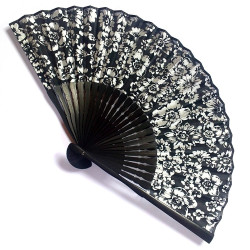 japanese fan bamboo & cotton HANA