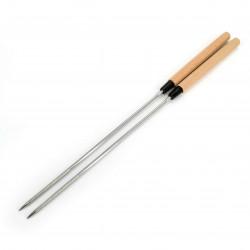 Pair of Japanese frying chopsticks, light wood - SAIBASHI TEMPURA