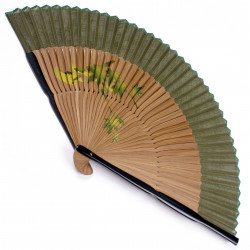 éventail japonais en coton et bambou KAEDE-AYU