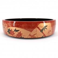 Grande vassoio in resina per sushi, rosso e oro - MOMIJI