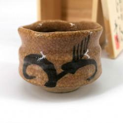 Haru no kusa traditional ceramic Japanese sake cup
