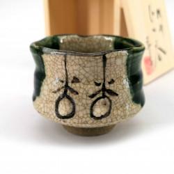 Traditional ceramic Japanese sake cup - ORIBE