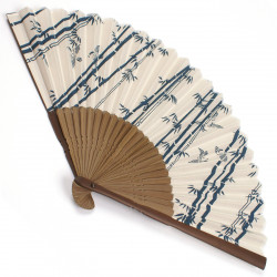 japanese fan bamboo & cotton TAKESUZUME