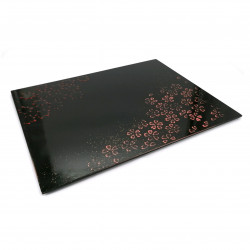Vassoio giapponese in legno laccato nero - MOMIJI SAKURA
