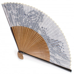 japanese fan bamboo & silk NAMI