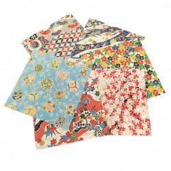 Set di 6 carte origami giapponesi per la decorazione della tavola, ORIGAMI TEBURU