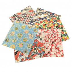 Set of 6 Japanese origami papers for table decoration, ORIGAMI TEBURU